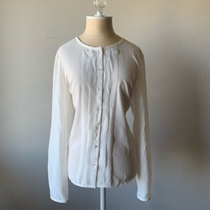 Forever 21 Cream Button Up Blouse NWT